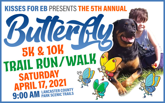 2021 Butterfly 5K Trail Run-Walk for Kisses for EB